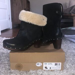 UGG BLACK LYNNEA BOOT SIZE 8 EXCELLENT CONDITION!